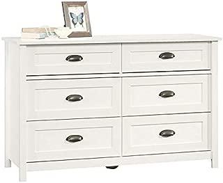 BOWERY HILL 6 Drawer Dresser in Soft White