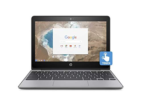 small size HP 11.6-inch HD Chromebook HD touch screen with IPS, Celeron N3060 @ 1.6 GHz, 4 GB RAM, 16 GB eMMC gray (updated)