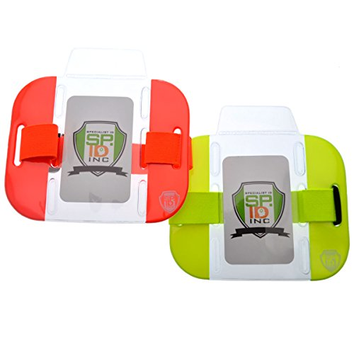High Visibility Bright Neon Armband Ski Pass Holders