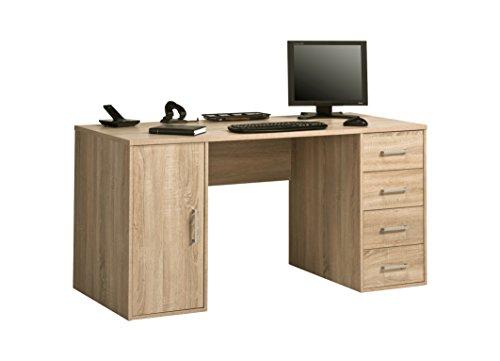 MAJA Möbel OFFICE EINZELMODELLE Schreib- und Computertisch, Holzdekor, Sonoma-eiche, 150,00 x 67,00 x 75,00 cm