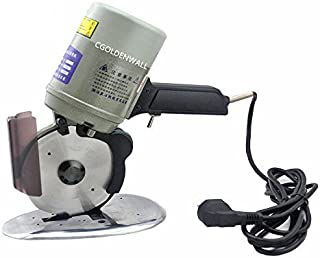 CGOLDENWALL YJ-125A Electric Octagon Textile Cutting Machine Cloth Scissors Circular Knife Shears Fabric Cutter Blade Diameter 125MM 110V