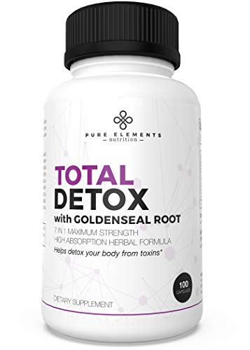 Liver Cleanse Detox Pills & Immune System Booster for Adults - Goldenseal Root Capsules for Immune Support - Body, Kidney & UTI Cleanse + Toxin Rid (100 Capsules)