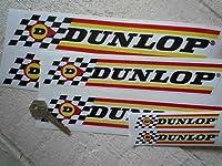 Dunlop Check & Stripes Stickers ダンロップ ステッカー シール デカール 225mm × 40mm 2枚セット [並行輸入品]
