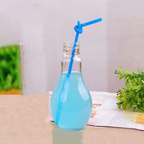 Vasos Bombilla Bombilla Innovadora Bebida Botellas De Jugo Botella De Agua Linda del Verano De La Leche del Juicer