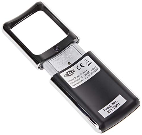 Wedo 2717501 Lupe eckig (mit LED Beleuchtung inklusiv Batterien) schwarz - 3