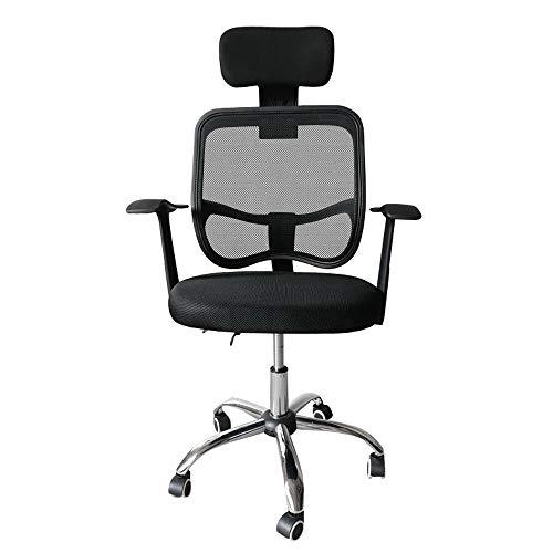 Bürostuhl, Ergonomischer Schreibtischstuhl, Höhenverstellbarer Drehstuhl mit Leisen Rollen und Verdicktem Sitzkissen, Einstellbare Armlehne Kopfstütze und Lendenstütze, Chefsessel bis 130 kg