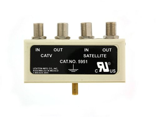 Leviton 5951-SA Coax and Satellite TV Plug-In Modules, For 5950 Series Plug-In Surge Centers, Beige