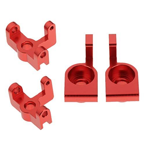 Amuzocity 4X 1/14 RC Soporte de Buje Delantero Y Trasero de Metal para Accesorio 144001