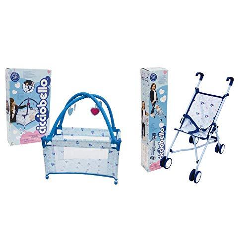 Giochi Preziosi Cicciobello Travel Bed, Lettino Pieghevole con Accessori & Preziosi Cicciobello, Passeggino 4 Ruote Pieghevole