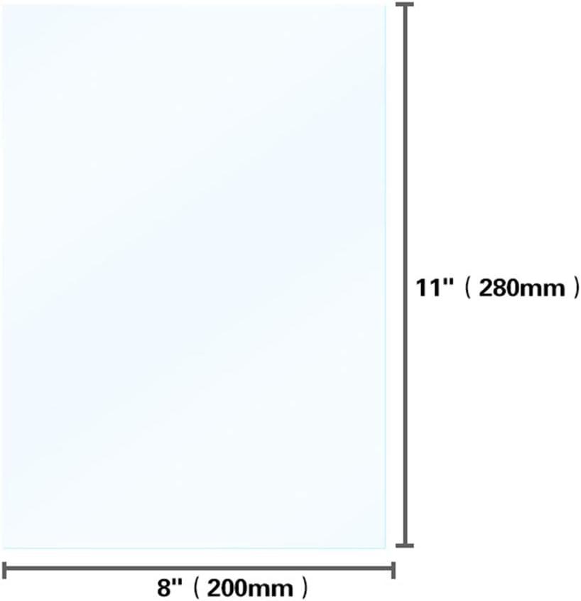 FEP-Folie 280 x 200 mm UV-FEP-Folienfreigabefolien Hohe Durchl/ässigkeit f/ür SLA DLP 3D-Drucker mit einer Dicke von 0,1 mm
