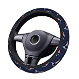 Stockdale New England Patriots Steering Wheel Cover for Car,American Football Design Steering Wheels Covers,Elastic Breathable Anti-Slip Covers Protector for Auto Truck SUV,15 inch