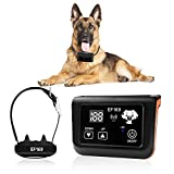 New Wireless Dog Fence, Pet Containment System, Pets Dog Containment System Boundary Container with IP65 Waterproof Dog Training Collar Receiver, Adjustable Range, Harmless for All Dogs.Black.1