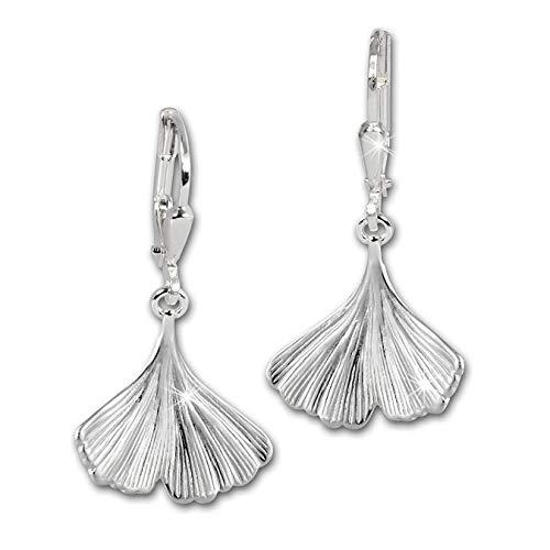 SilberDream Ohrringe Damen-Schmuck 925er Silber Ohrhänger Ginkgo SDO519