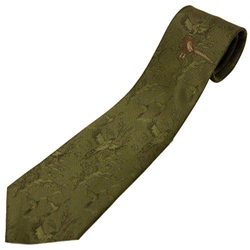 Bisley Cravate de chasse à motif Faisan Vert foncé
