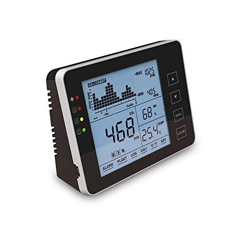 Seben 1200P B CO2 Messgerät und Monitor mit Ampel, akustischer Alarm, Datenlogger für die Messung von Luftqualität, Relative Luftfeuchtigkeit