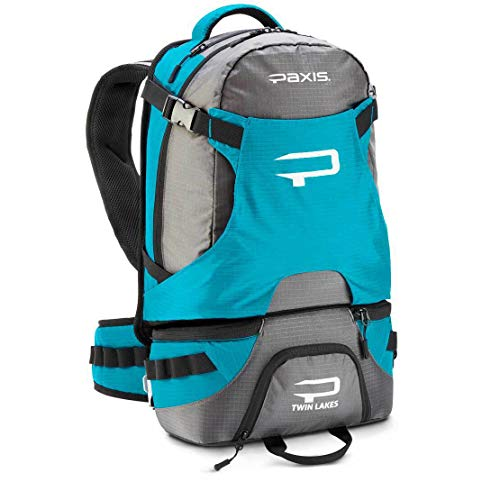 Paxis High-Tech Ergonomic Fishing and Photography Backpack - BlueGrey - Capacity 30 Liters