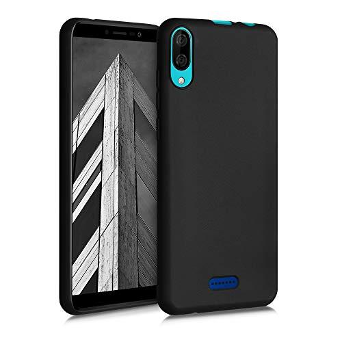 kwmobile Coque Compatible avec Wiko Y80 - Coque Housse Protectrice pour Téléphone en Silicone Noir