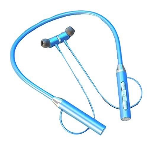 Nrew YD08-2 Inalámbrico 5.0 Tarjeta enchufable Colgante Cuello Auriculares Auriculares Deportivos Azul
