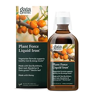 Gaia Herbs Plant Force Liquid Iron Supplement