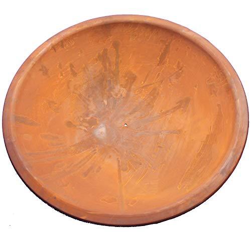 Patine Métal Bol 50 cm, Soucoupe Décorative, Coupe en Métal en Rouille