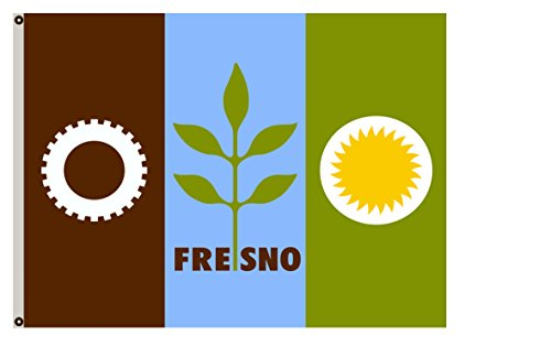 Fyon California Banner City of Fresno Flag 3x5ft