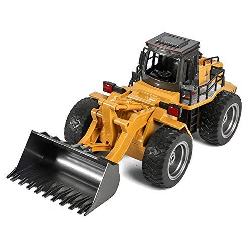 6-Kanaals Legering Laden Bulldozer, 2.4G Draadloze Afstandsbediening Regeltechniek Vorkheftruck, Kinder Speelgoed Auto, Vooruit/Achteruit/Links/Rechts Draaien, 360 ° Draaien