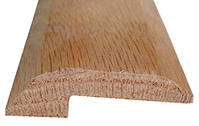 Solid Red Oak Interior Threshold - Style 2-36 inches Long