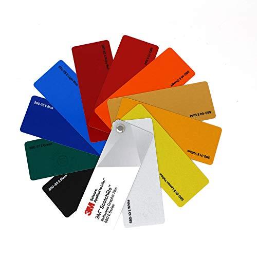 Kleurvakken 3M Wrap Film 1080/1380 Di-Noc 8900 580E Scotchcal 80 100/983/180 Folie autofolie reclame Kleurvakken 3M 580E reflecterende film