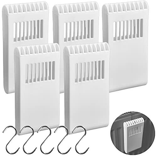 Umidificatore per termosifone, set da 5 pezzi, con ganci – evaporatore in plastica – evaporatore ad acqua evaporatore