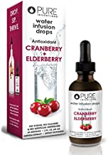 Pure Inventions, Antioxidant Fruit Extract Formulations Water Enhancers Infusion Drops (60 Servings) - 2 Oz (Cranberry + Elderberry)