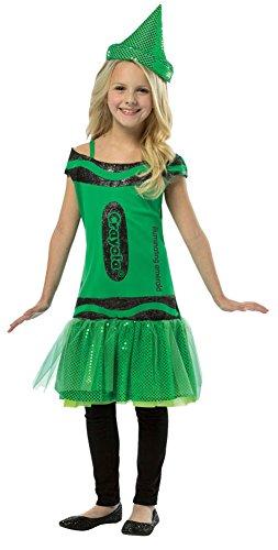 Crayola Glitz and Glitter Illuminating Emerald Dress Child Costume (4-6X)