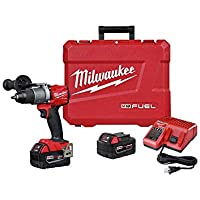 Milwaukee M18 FUEL 18-Volt Lithium-Ion Brushless Cordless 1/2 in. Drill / Driver Kit with 2-Pack 5.0Ah Batteries, Charger, and Hard Case