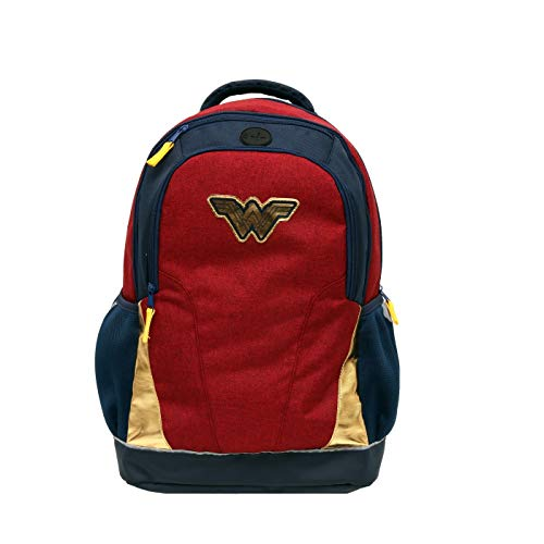 Wonder Woman Girls' 18' Backpack,Red/Blue