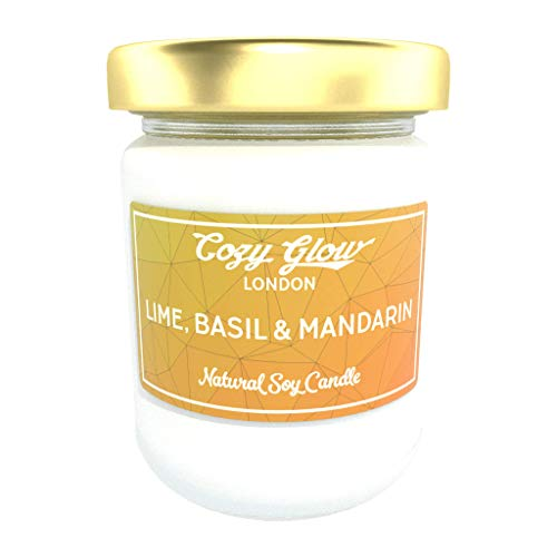 Cozy Glow Lime, Basil & Mandarin Regular Soy Candle