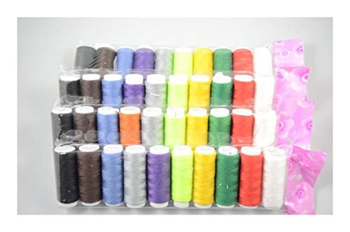 Buy LKSPD 10pcs/Sets Small Roll Household Sewing Threads Spools Hand Stitching Embroidery Thread Clo...