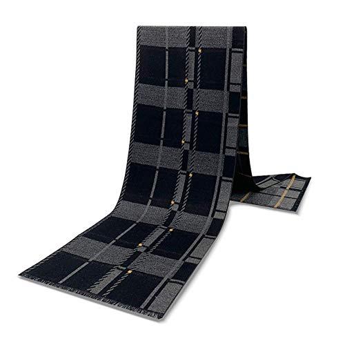 Hzryc Cashmere Sciarpa a Righe dello Scialle di Disegno Uomini di Lusso Poncho Casual Invernale Sciarpa Uomini Grigi,Sciarpa Grigia,180 30cm *