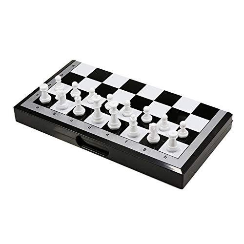RHGEIUCY Rangeiucie Tragbarer magnetischer Schach-Falten-Schach-Panel Yizhi-Tisch Spielen Schachspielzeug Nicht leicht zu gleiten, stark und langlebig