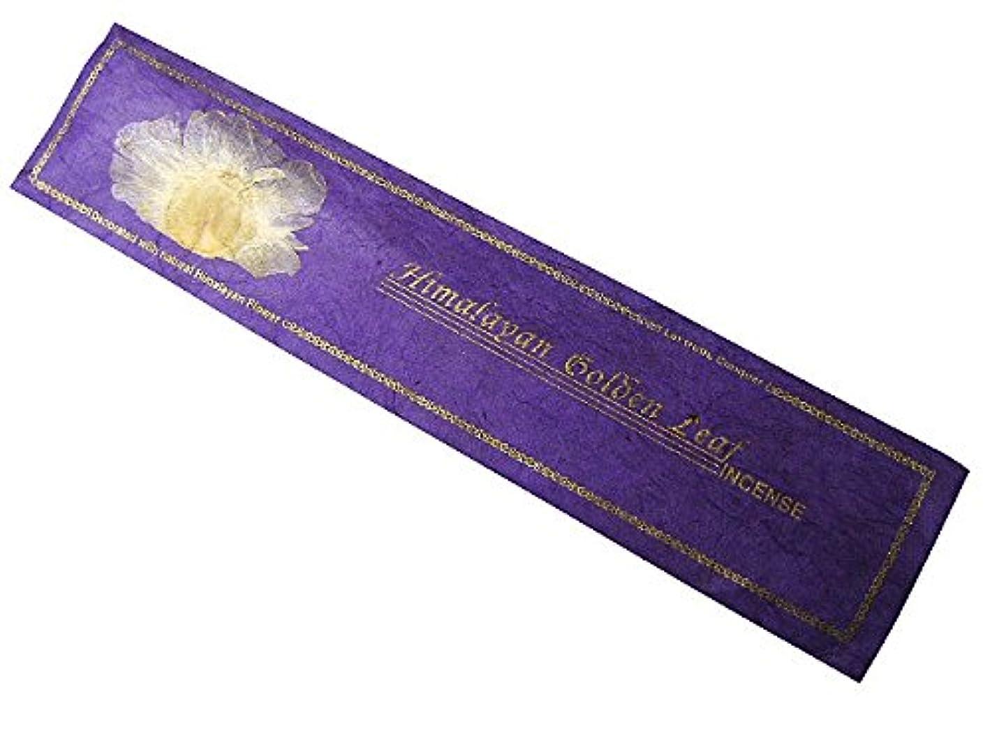 疫病独特の微視的NEPAL INCENSE ネパールのロクタ紙にヒマラヤの押し花のお香【HimalayanGoldenLeafヒマラヤンゴールデンリーフ】 スティック
