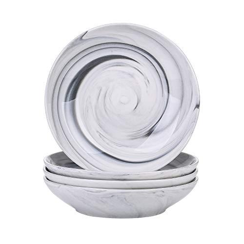 Vancasso Suppenteller Porzellan, Clay teilig Tiefteller bunt, Ø 21,5 cm, Suppenschale 700ml Salat-Teller Set