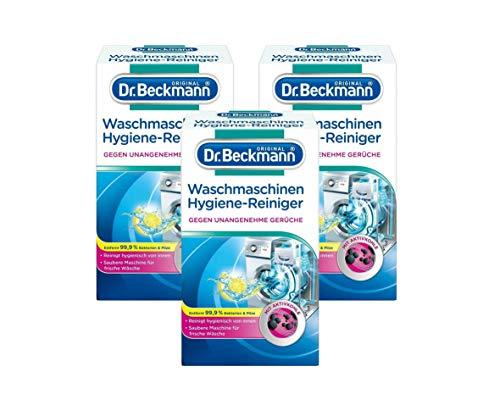Dr. Beckmann Waschmaschinen Hygiene-Reiniger | Maschinenreiniger mit Aktivkohle (3x 250 g)