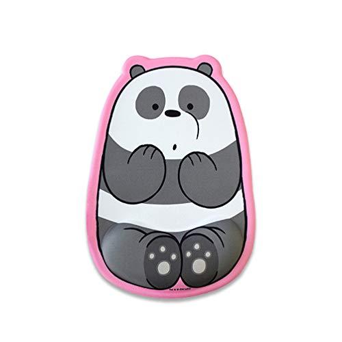 We Bare bears Wrist Protection Cushion Mouse Pad 3 Types 7.4' x 11.02' Slip-Resistant (Panda)