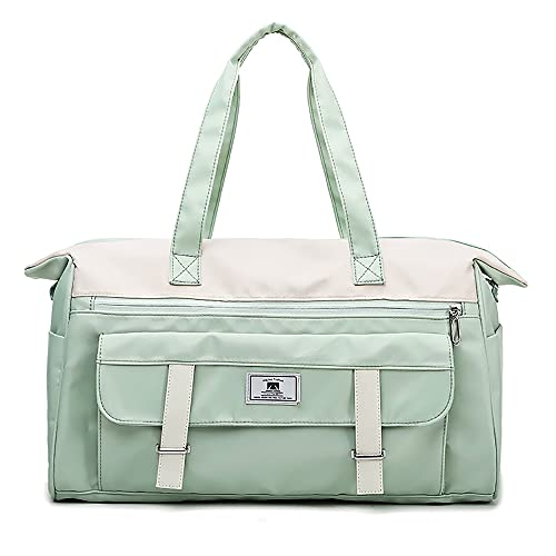 LCAWEI Bolsa de viaje de 25,3 L, grande, bolsa de transporte para mujer, con gran bolsillo húmedo y múltiples bolsillos de viaje, bolsa de viaje portátil resistente al desgaste durante la noche