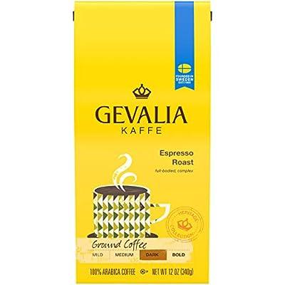 GEVALIA Dark Roast Ground Coffee, espresso, 72 Oz, Pack of 6