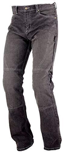 A-Pro, Jeans da motociclista, con Inserti protettivi, in Kevlar rinforzato, nero, 36