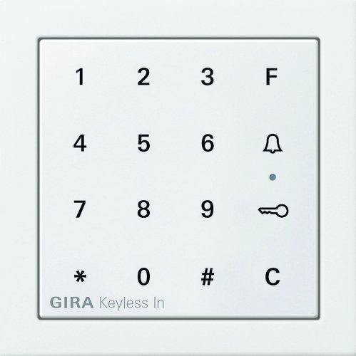 Gira 2605112 Keyless In Codetastatur Flächenschalter, reinweiß