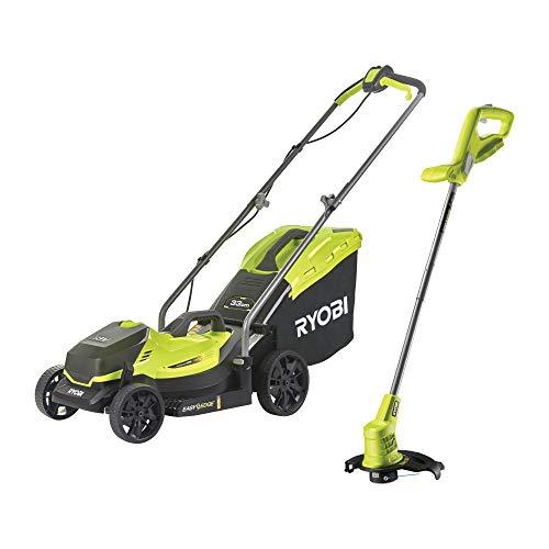 Ryobi 18V ONE+ Cordless Lawnmower and Grass Trimmer Kit (1 x 4.0Ah)