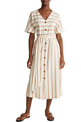 ESPRIT Damen 030EE1E306 Kleid, 810/RUST ORANGE, M