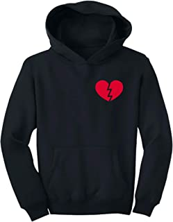 Valentien's Day for Singles Broken Heart Pocket Youth Hoodie