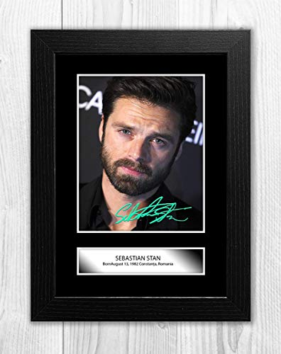 Good With Wood Yorkshire Sebastian Stan (2) Reproduction Autograph Picture Poster Photo A4 Print(Black Frame)