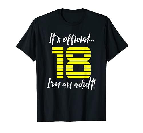 Funny 18th Birthday T-Shirt Gift Idea for Men or Boys